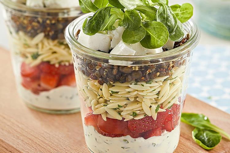 Salade jar d'avoines de saison