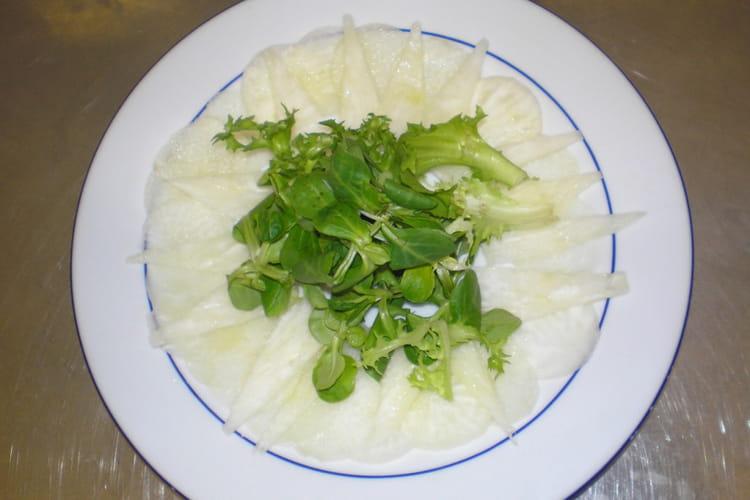 Carpaccio de légumes frais