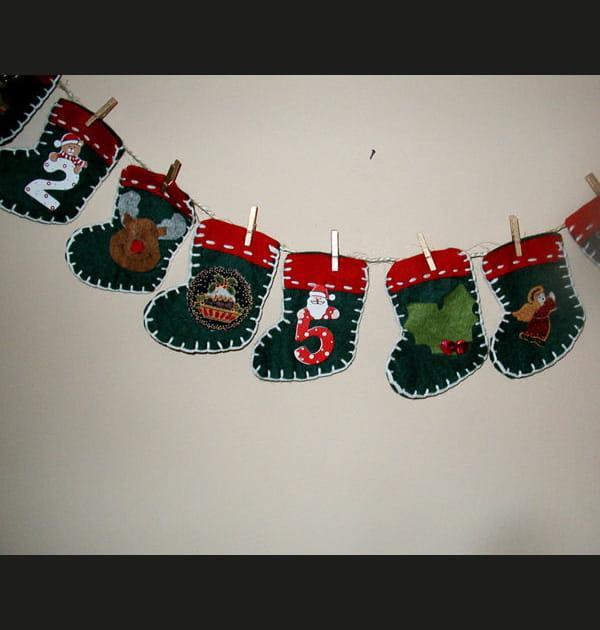 Guirlande de bottes de Noël