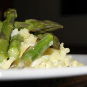 risotto crémeux aux asperges vertes