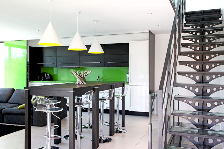 cuisine vert et noir. Black Bedroom Furniture Sets. Home Design Ideas