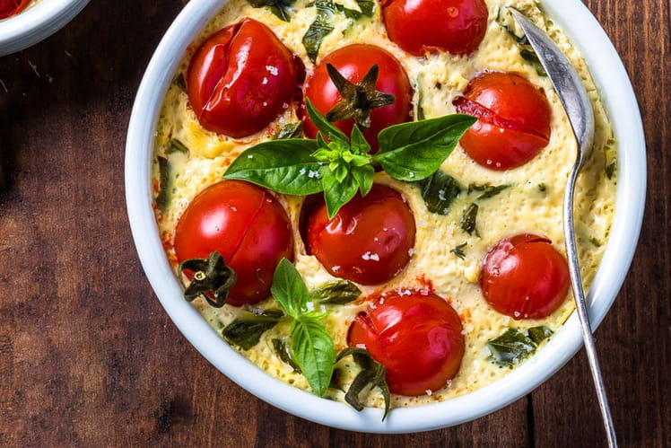 Clafoutis aux tomates cerises au Steam'up