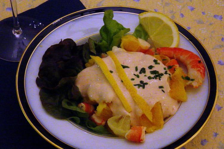 Salade de crevettes et agrumes