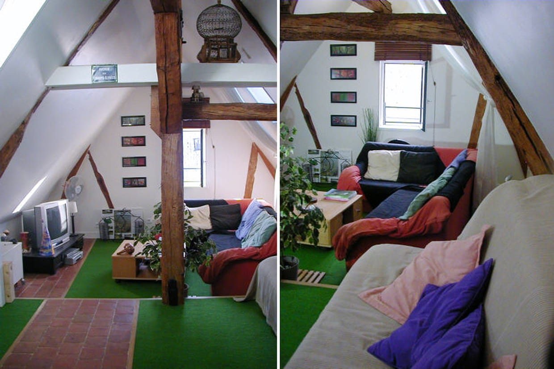 le grenier am nag pour les amis et les loisirs. Black Bedroom Furniture Sets. Home Design Ideas