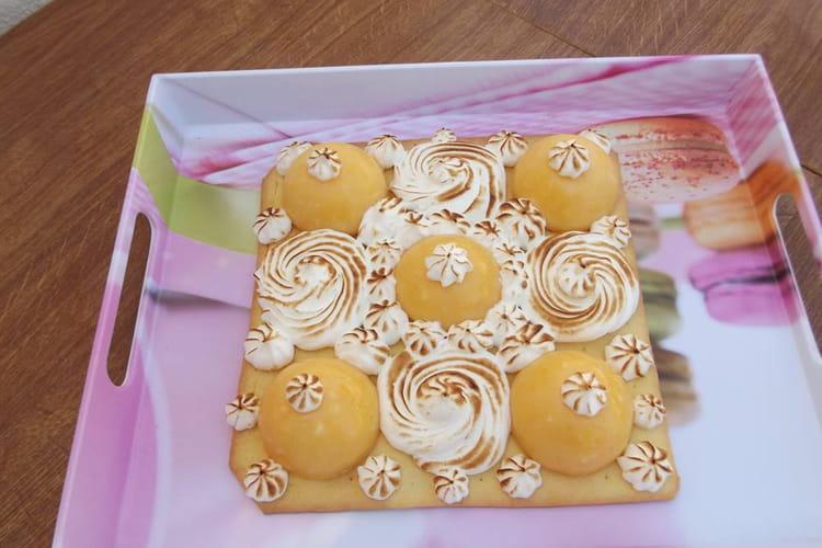 Tarte dôme de citron meringuée