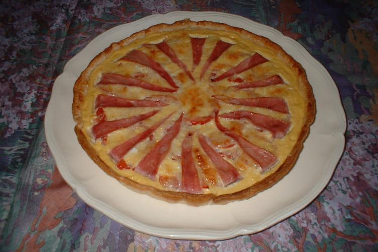 Tarte soleil jambon et tomate