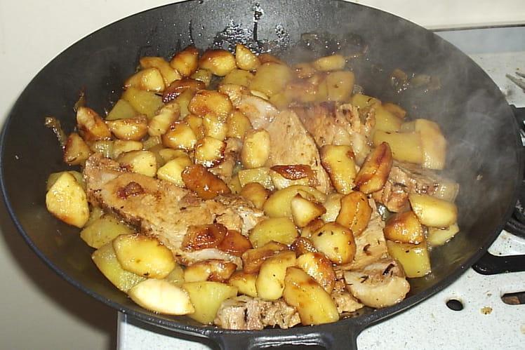 Rôti de porc et ses 2 pommes