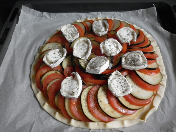 Recette De Tarte Aubergine Tomate Chevre La Recette Facile