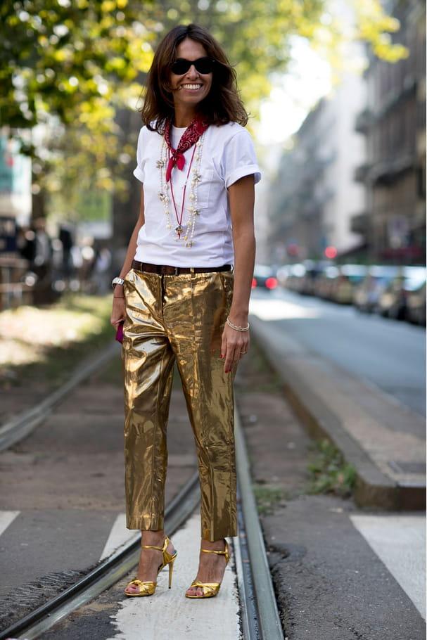 Le pantalon lamé