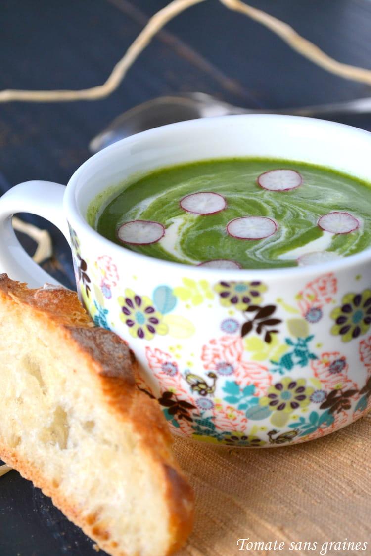 recette velout de fanes de radis potage soupe. Black Bedroom Furniture Sets. Home Design Ideas