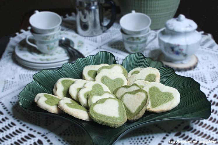 Biscuits sablés bicolores pour la Saint Valentin