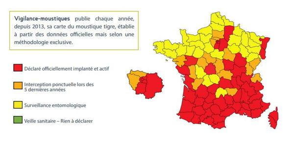 carte moustique tigre france