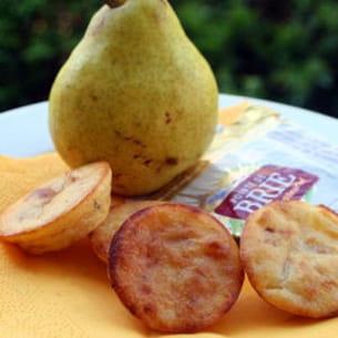 miniquiches pimentées au brie et aux poires