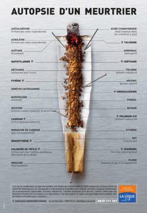 les différentes substances toxiques que produit la fumée d'une cigarette