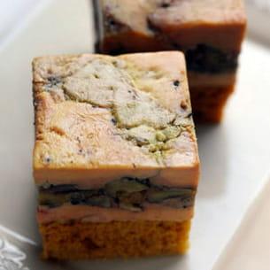 foie gras, petites pommes antarès et noix de pécan