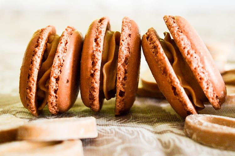 Macarons chocolat Dulcey de Valrhona