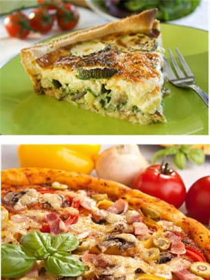 pizza ou quiche.