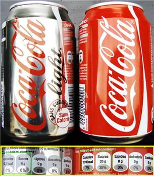 coca cola light et coca cola.
