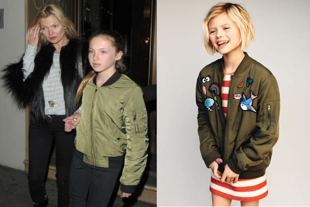 Un bomber pour la fille de Kate Moss