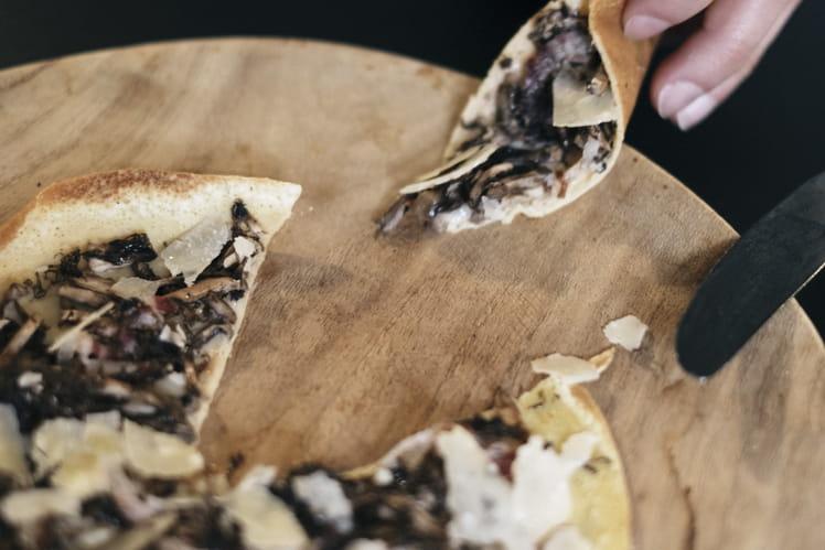 Crêpe noisette, lard fumé des Pyrénées et truffe sauvage du Minervois