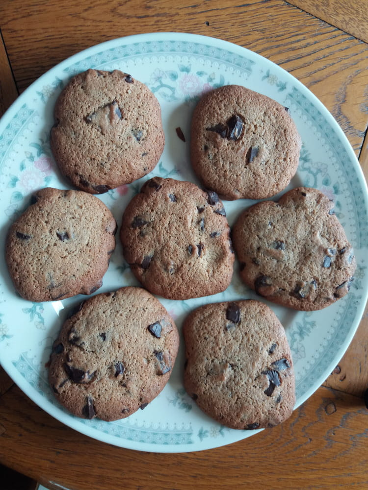 Recette de Cookies au chocolat sans lactose, sans gluten ...