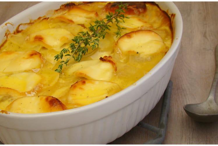 Gâteau de pommes de terre au fromage de chèvre