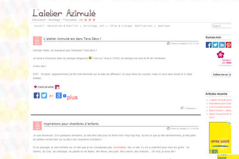 Le blog du moment: L'atelier Azimuté