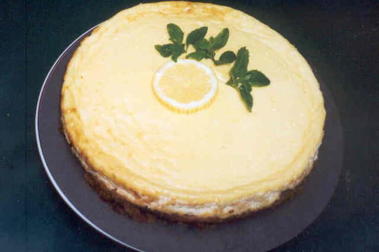 Cheesecake au citron, petits-suisses et petits-beurre