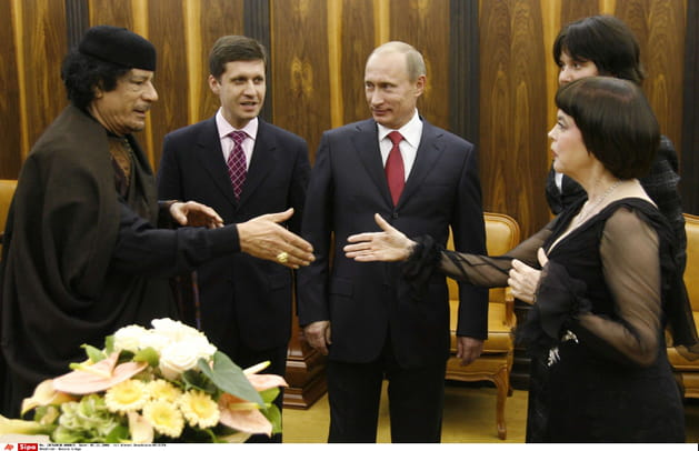 Réunion au sommet et politiquement surprenante avec Poutine et Kadhafi