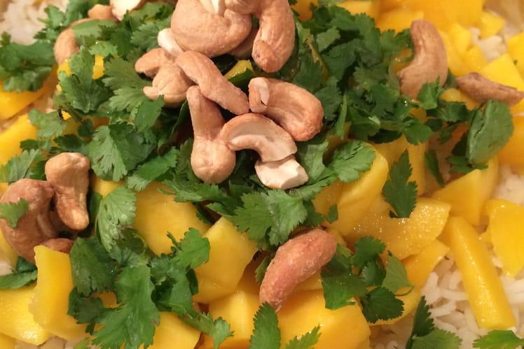 Poulet à la mangue comme un biriani