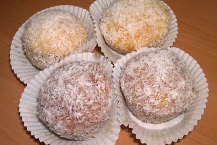 Boules de noix de coco à la fleur d'oranger