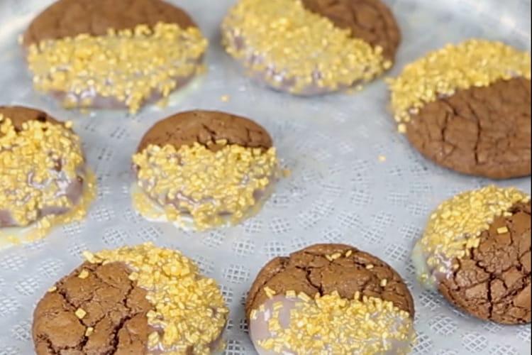 Cookies bicolores pailletés