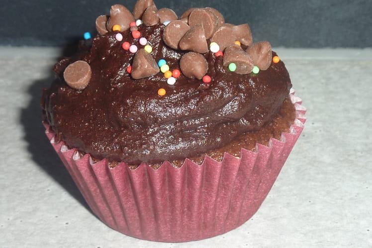 Cupcakes au chocolat et glaçage chocolaté