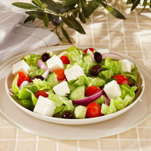 salade méditerranéenne fromage de brebis