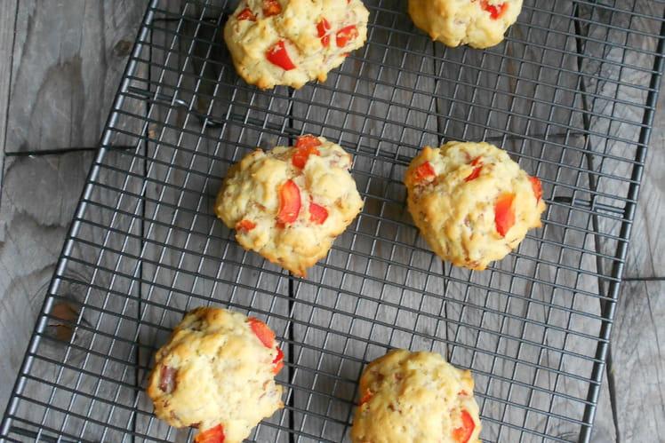 Cookies poivrons pancetta