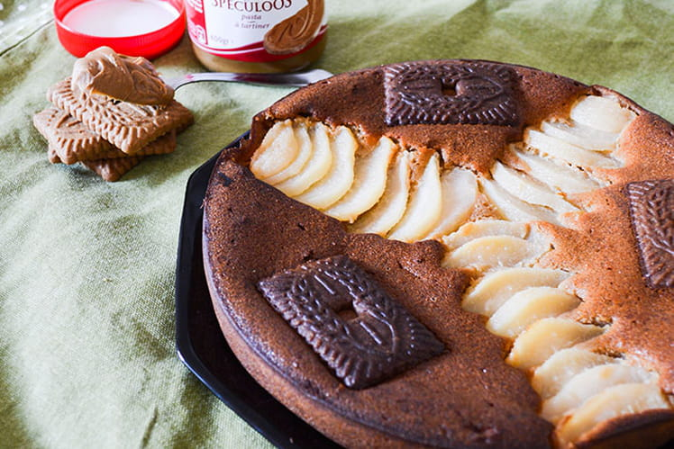Gâteau moelleux poires speculoos et mascarpone