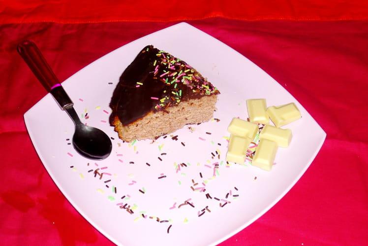Gâteau crème de marron et glaçage au chocolat noir