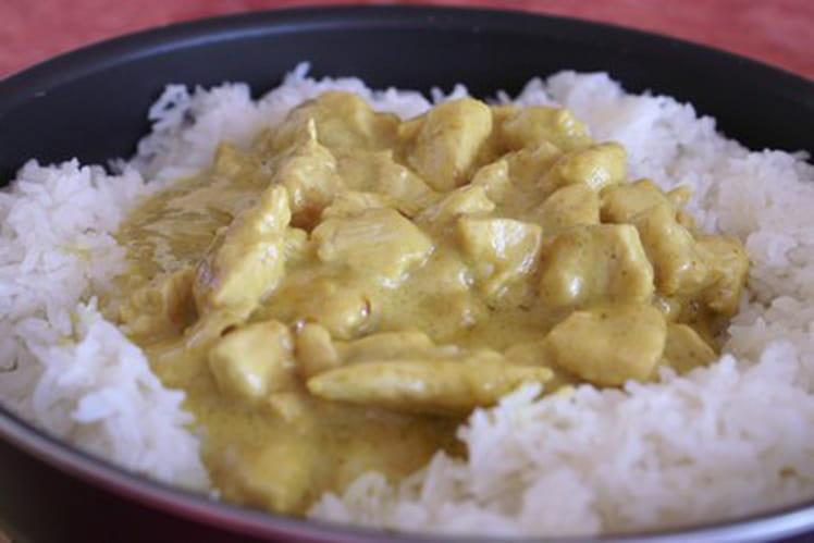 Emincé de poulet curry-coco