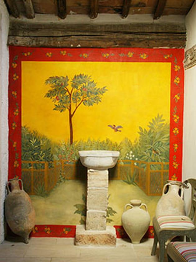 Fresque murale for Fresque murale cuisine