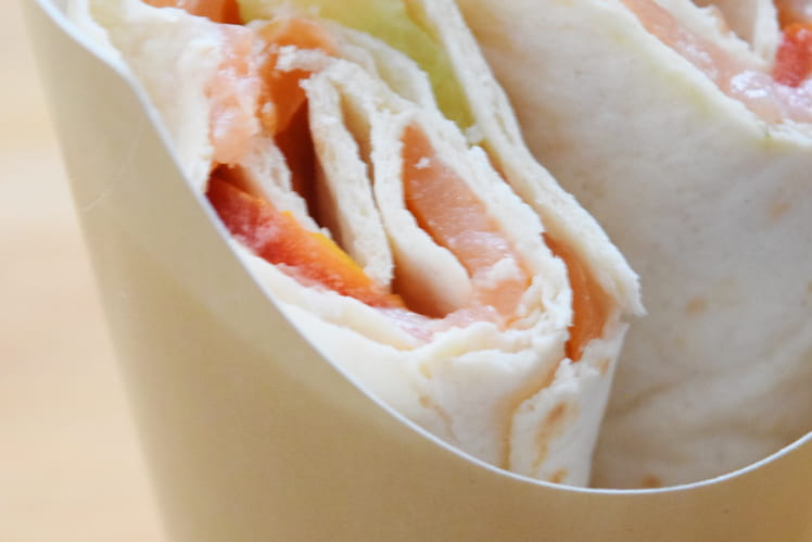 Wrap au saumon