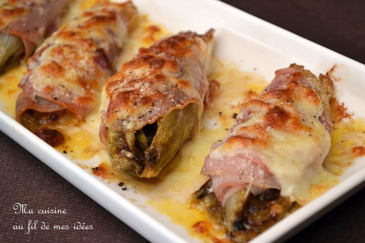 Chicons braisés à la pancetta et mozzarella