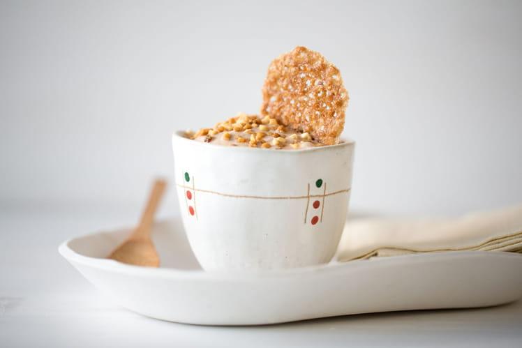 Glace caramel au pralin