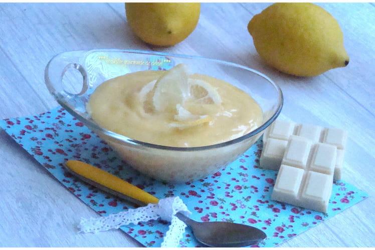 Crème au citron et chocolat blanc