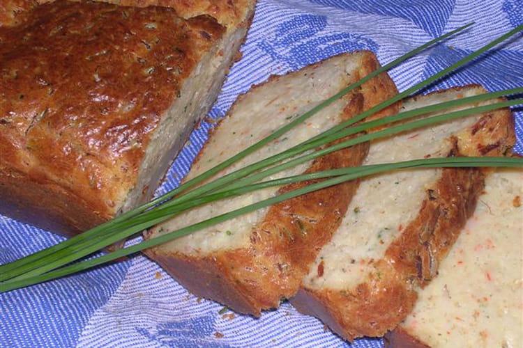Cake au surimi et à la ciboulette