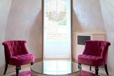 un salon au style campagnard. Black Bedroom Furniture Sets. Home Design Ideas