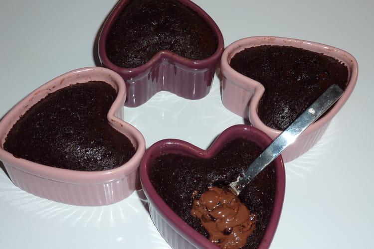 Moelleux au chocolat coeur nutella