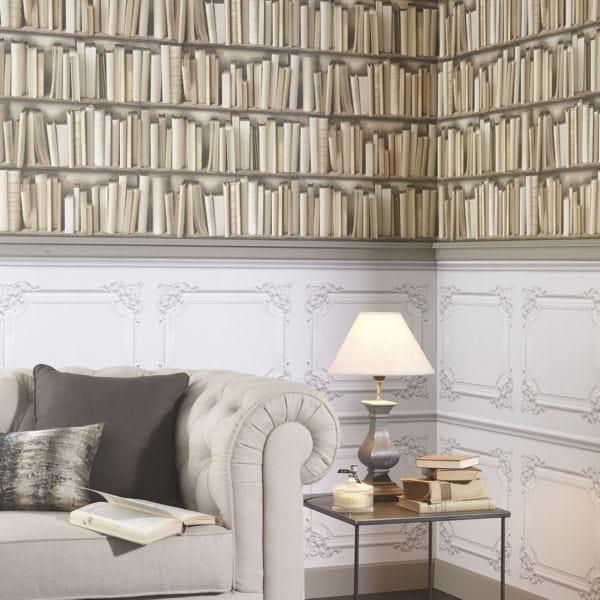 papier peint trompe l 39 oeil de saint maclou. Black Bedroom Furniture Sets. Home Design Ideas