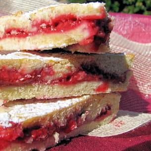 gâteau basque revisité aux framboises
