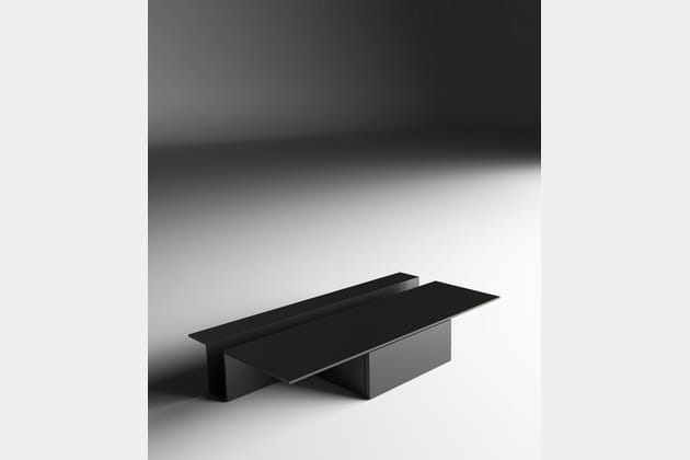 table grek par gabriele et oscar buratti pour living divani chez silvera bac. Black Bedroom Furniture Sets. Home Design Ideas