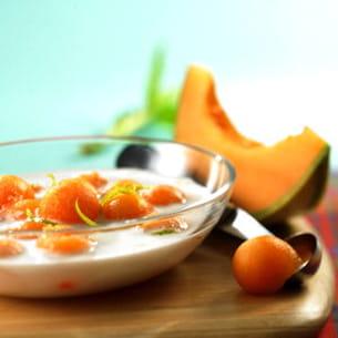 soupe de melon philibon au lait de coco